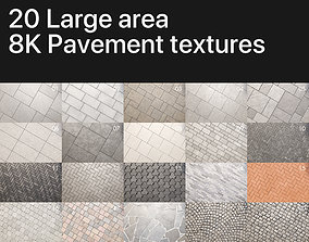 8K Large area paving textures pack 3D