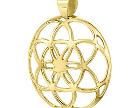 3D print model Pendant Flower of Life Antique Gold 143