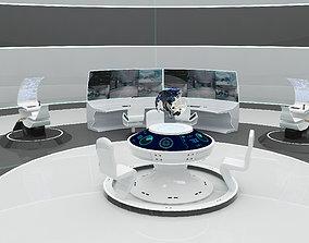SCI FI FUTURISTIC COMMAND CENTER 3D game-ready