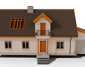 3D Family House vila