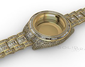 WATCH CROWNED DIAMONDS Sky 3D print model 41mm