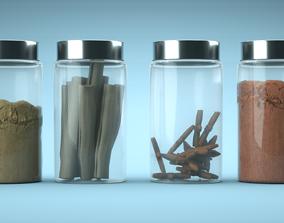 3D Spices Jars