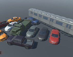 3D model LOW POLY WORLD - STYLIZED CARS