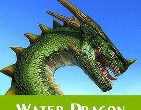 3D model animated Water dragon