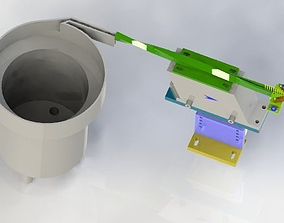3D model Rotating vibration feeding mechanism