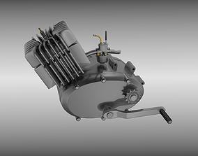 Two stroke moped engine 3D model