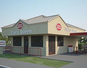 food 3D Dairy Queen Restaurant 01