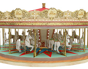 Carousel 3D model architectural