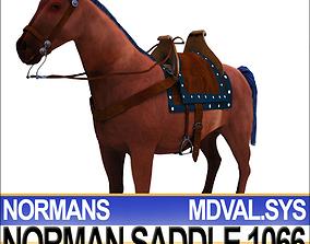 Saddle Medieval Norman Bridle Harness 1066 3D