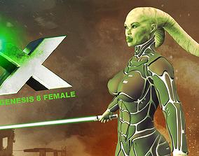 3D model X for Genesis 8 Female