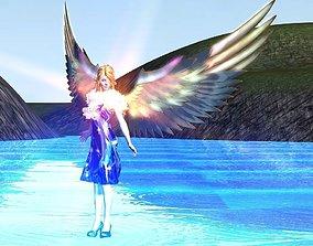 3D asset Angelic lady