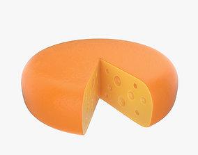 3D model Cheese wheel sliced