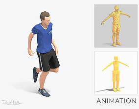 rest pose Exercise Man Animation 3D model