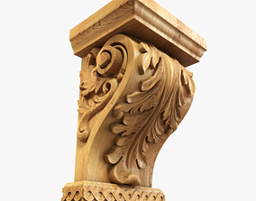 Wood-Corbel-4 3D