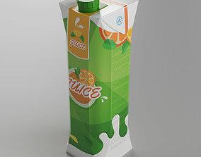 Tetra Juice Carton Box 3D