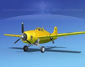 3D Grumman F4F-3 Wildcat V17