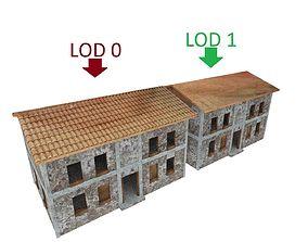 Abandoned building station 3 models post 3D asset 1