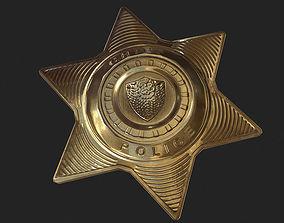 Police Badge 3D asset