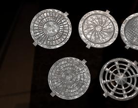 3D model Five hatches