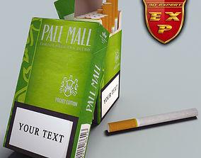 3D Pall Mall Pocket cigarette pack