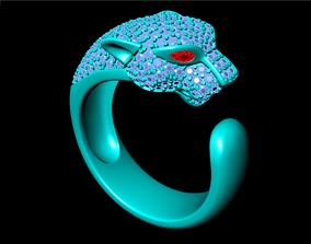 Leopard Rings - Men ring 3D printable model
