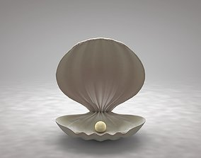 3D asset Clamshell with a Pearl