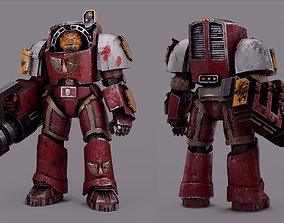 3D model Warhammer Terminator Blood Angel Soldier