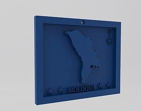 Moldova Map 3d Print Model