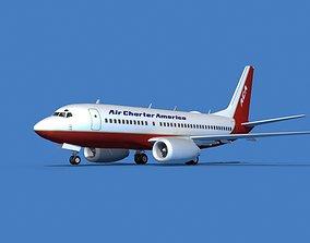 3D model Boeing 737 MAX 7 Air Charter America