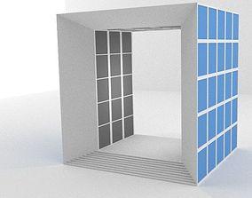 Grande Arche Building Simplified 3D model