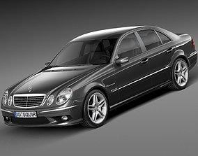 3D model Mercedes-Benz E55 AMG W211 2002-2009