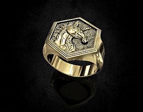 animal 3D printable model Unicorn Ring