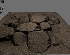 floor rock 02 3D model