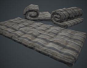 Old USSR Mattress PBR Game Ready 3D model