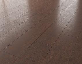 Wood Floor Oak Seal Brown Brushed 3D