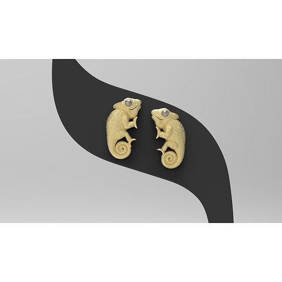 earrings chameleon