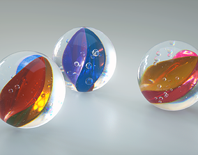 3D model Marbles glass