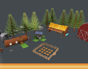 Farm Pack Hand Painted 3D asset game-ready