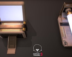 3D model Retro Sci-Fi lights P1