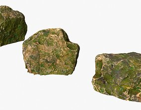 3D asset Photoscanned Rocks 01