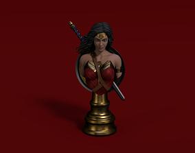 Wonder woman Justice Leauge Bust 3D print model