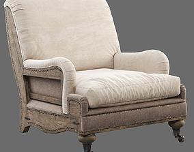 RH Deconstructed English Roll Armchair 3D