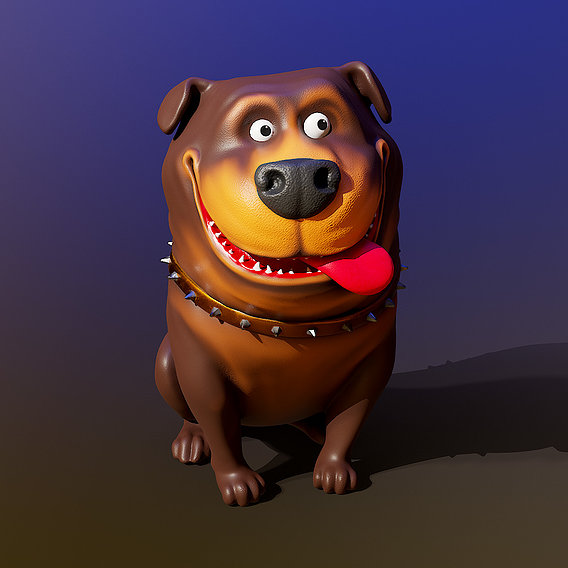 Funny dog with  textures