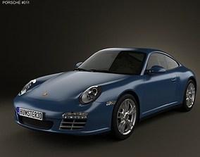 3D model Porsche 911 Carrera 4 Coupe 2011