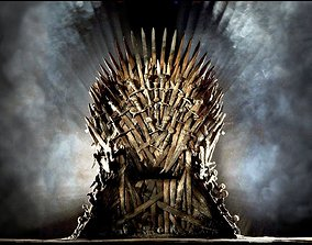 low-poly IronThrone model for 3ds max 2018 corona render