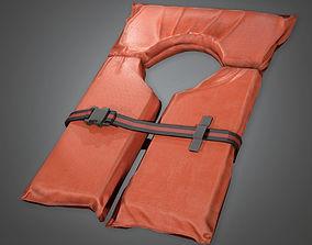 3D asset Life Vest TLS - PBR Game Ready