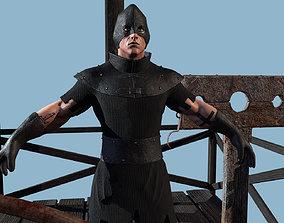 Hangman on the scaffold scene 3D asset