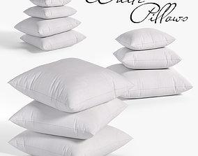 White pillows 03 3 sets 10 different Pillows 3D