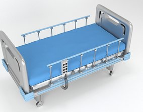 Medical bed stretcher 3d model VR / AR ready