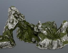 desert plant rock gate 3D asset VR / AR ready